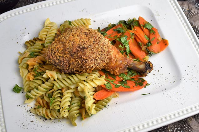 Nutty Oven Fried Chicken