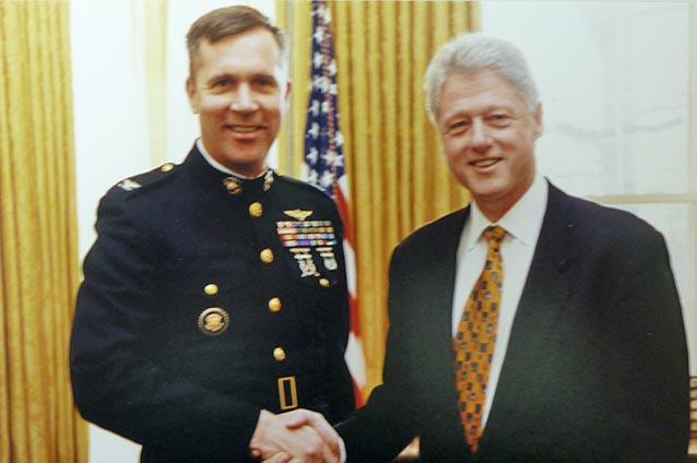 The Pentagon assigned Col. Raths to the White House Military Office during President Clinton's Second Term.