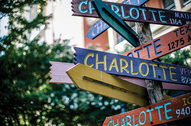 Charlotte Sign at The Green