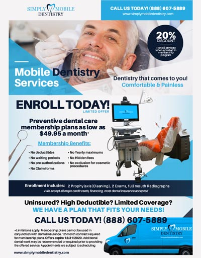 Simply Mobile Dentistry Advertisement Flyer web